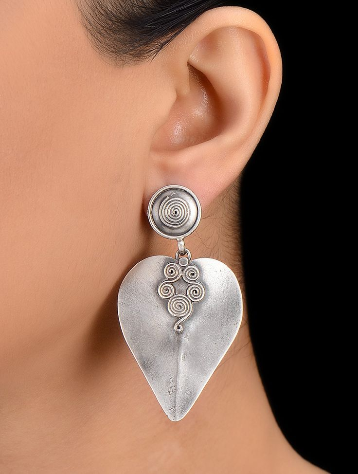 Buy Classic Silver Earrings Online at Jaypore.com