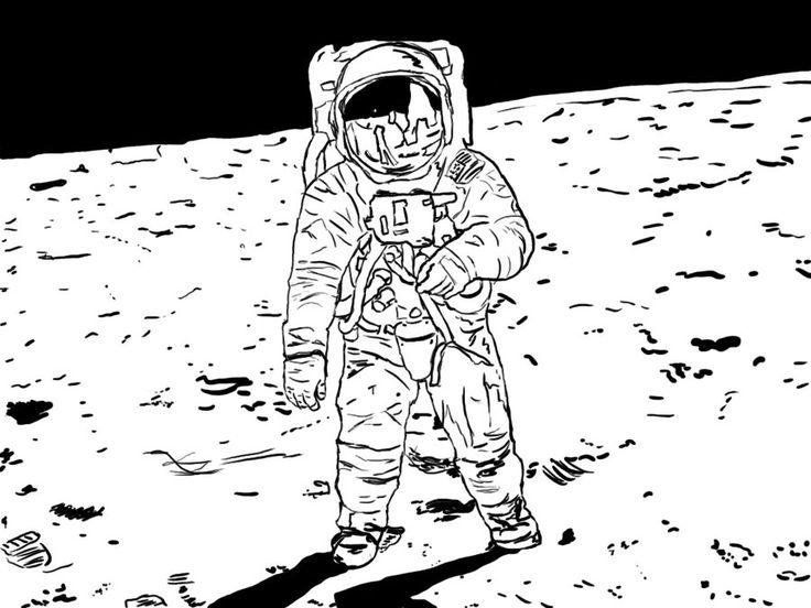самое человек на луне рисунок последний раз объектив