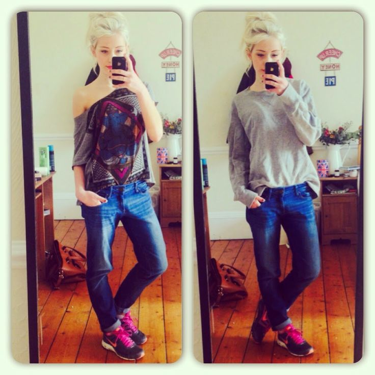 Tshirt: Urban Outfitters Jumper: Uniqlo Jeans: DL1961 Trainers: Nike