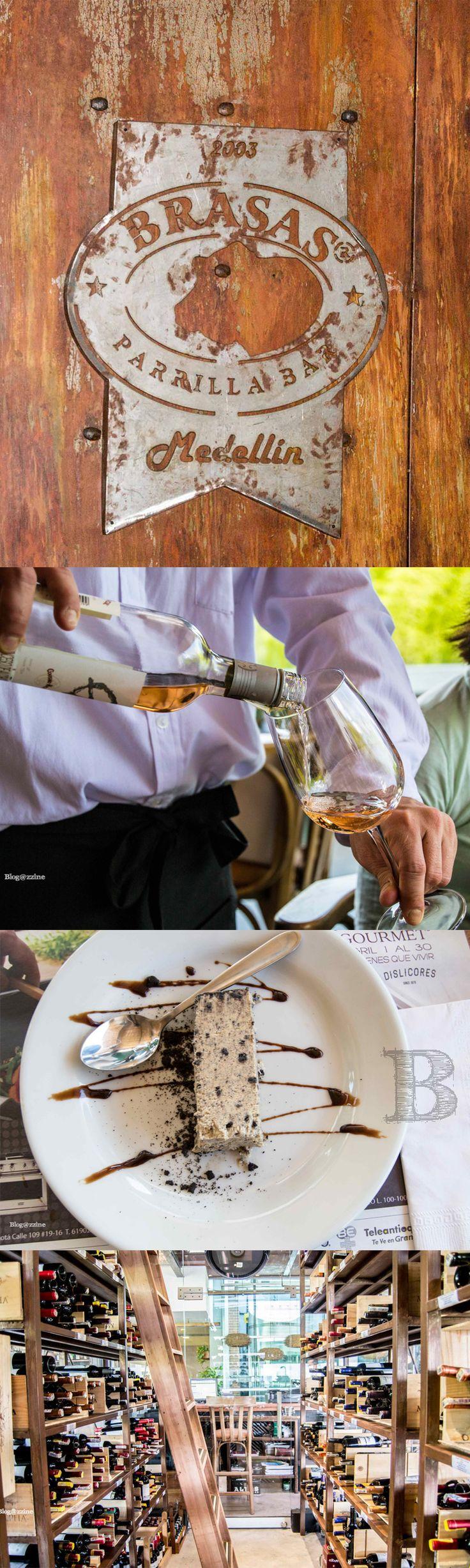 Este es el restaurante #BrasasParrillaBar en Medellín,  uno de los restaurantes de la ciudad que tiene su propia cava de vinos y la más completa de la ciudad. Acá disfrutamos de la mejor comida, junto a los mejores vinos. #EstilodeVidaBlogazzine #vinos #delish #gastronomía #delicious