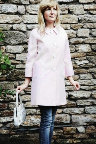 County Coat in Pink Gingham Doyle. Designed by Truly Sopel. Made in the UK.