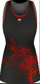 Netball dress by Shush Sport - fiery!