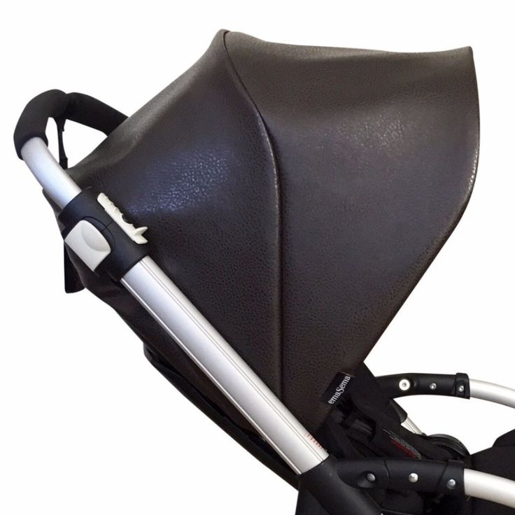 Faux Brown Leather Sun Canopy Hood For Your Bugaboo Cameleon Cameleon3 Bee
