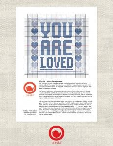 You are Loved Cross Stitch Chart PDF Printable Chart by Onneke Printables