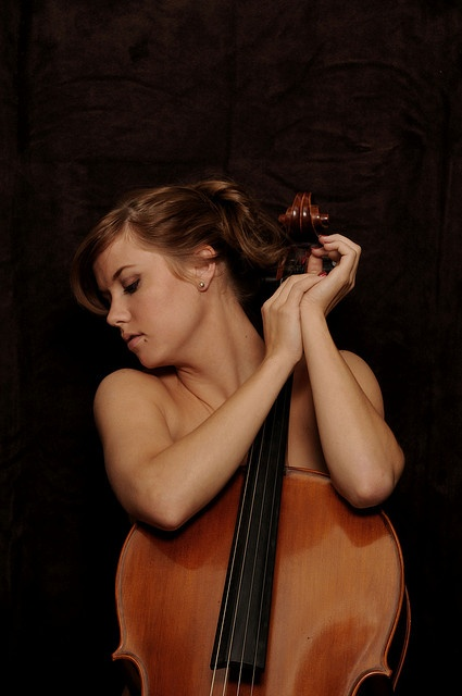 double bass violin naked woman