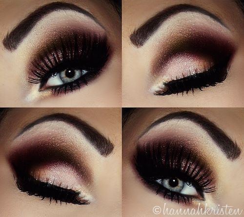 Dramatic eyes.. I could never do this or pull this off without looking over done but I think it's pretty