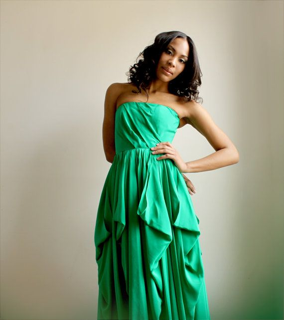 17  ideas about Green Silk on Pinterest  Silk gown Designer ...
