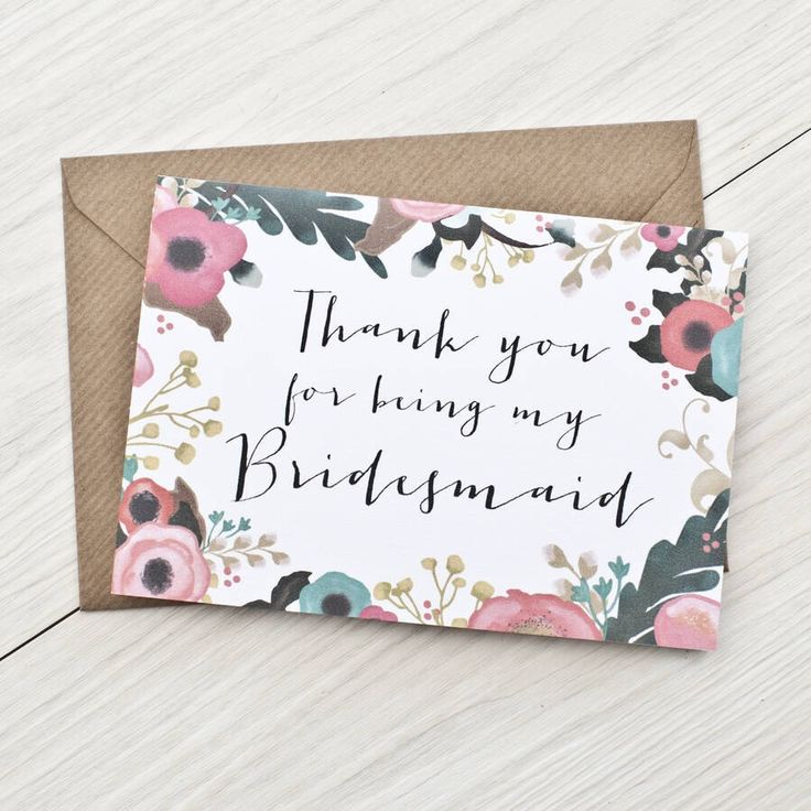 Wedding Thank You Gifts For Bridesmaids: Best 25+ Bridesmaid Thank You Cards Ideas On Pinterest
