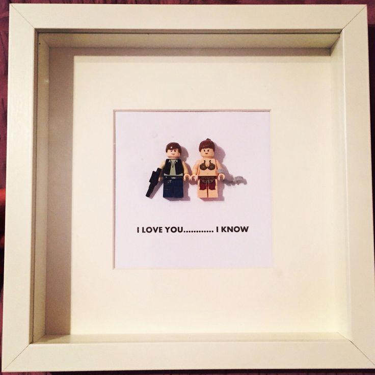 I love you.... I know Star Wars lego frame