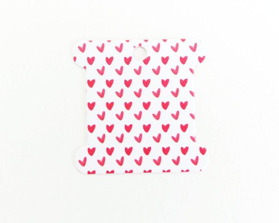 Hearts and Rainbows Embroidery Thread Cards