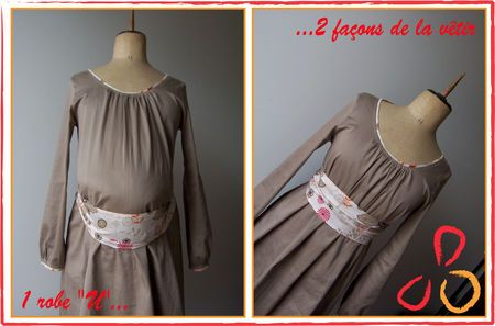 robe à encolure en U des Intemporels