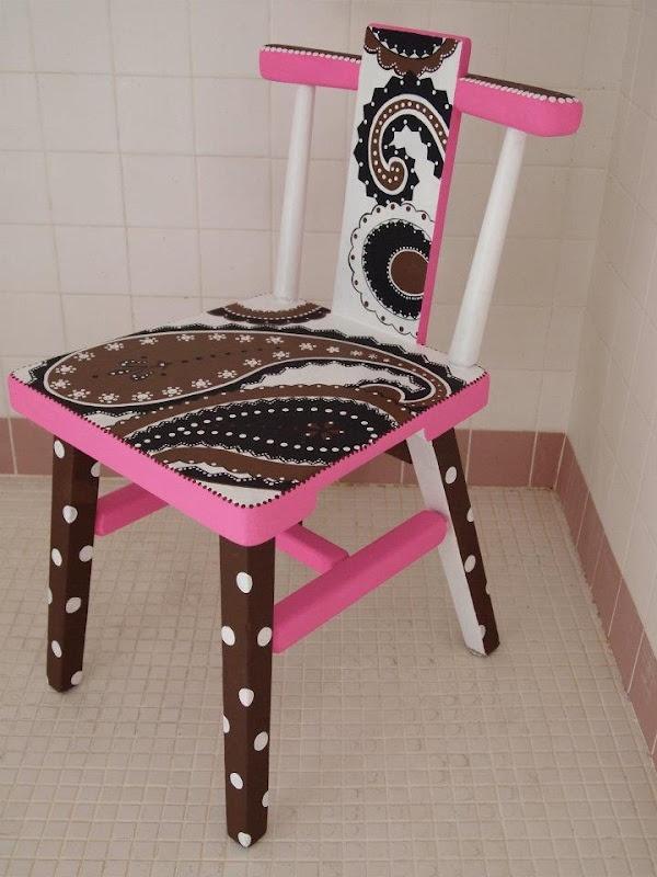 Elvis Paisley, 2012, acrylic on wood chair sealed with minwax polyurethane, satin finish