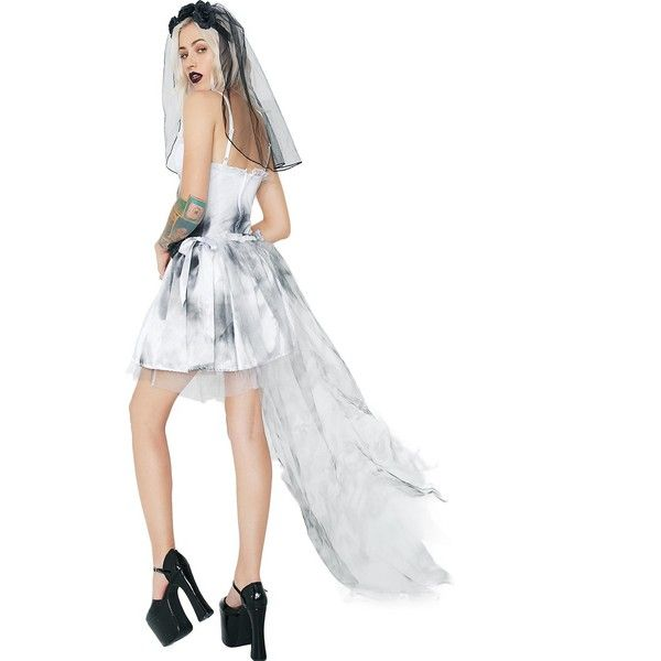 Sexy Corpse Bride Costume ($8.55) ❤ liked on Polyvore featuring costumes, rose costume, zombie bride costume, doll halloween costume, sexy halloween costumes and zombie bride halloween costume