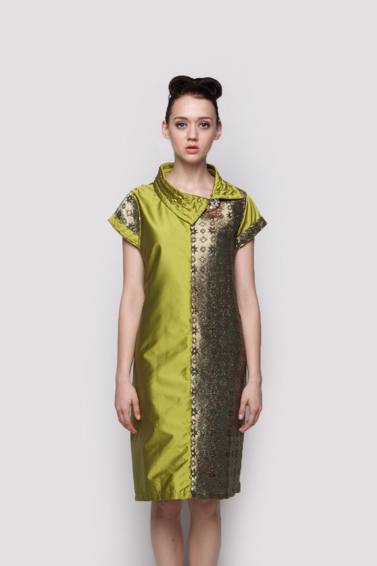 Citron Green Wrap Dress