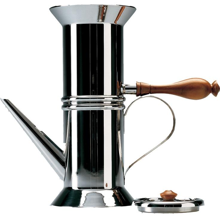 Alessi Miniature Neapolitan Coffee Maker in Mirror Polished by Dalisi Riccardo