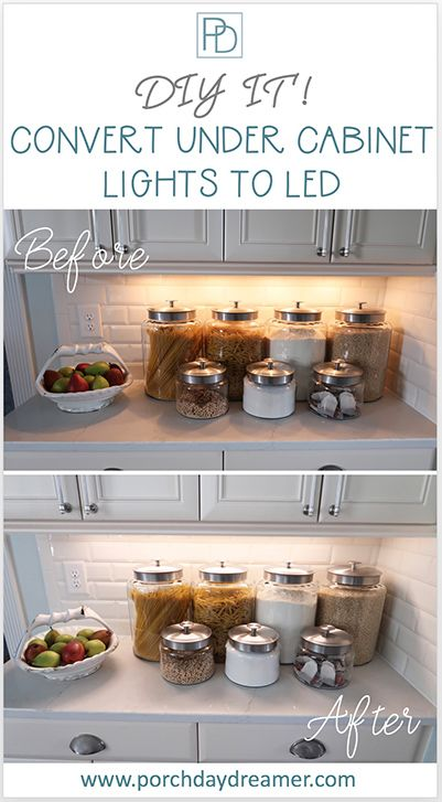 How To Convert Old Under Cabinet Lights To Led Kitchen Under