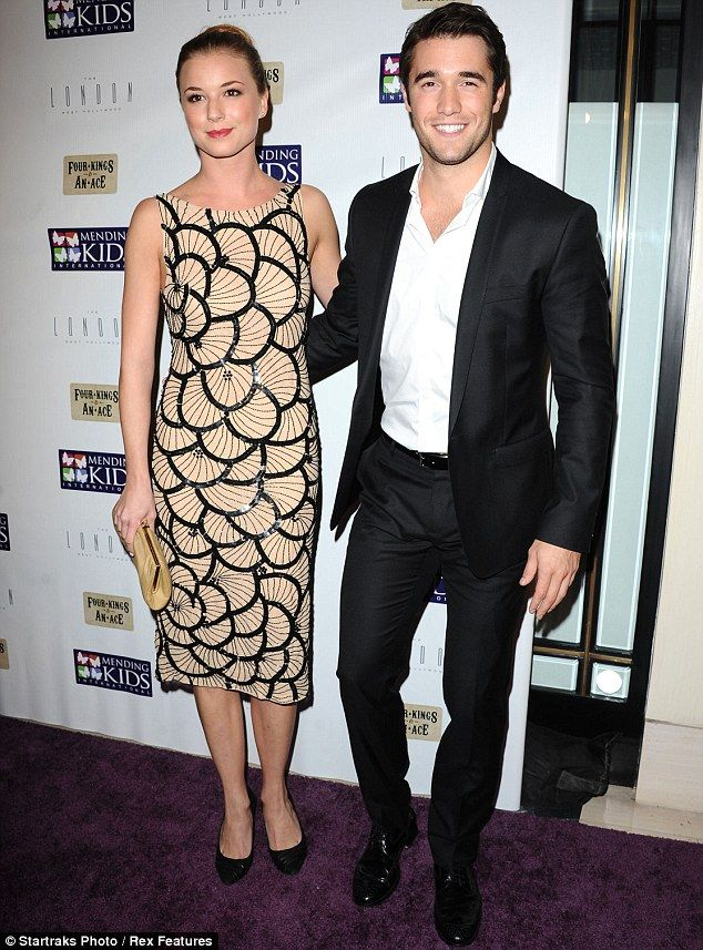 Cutest couple ever. Emily VanCamp and Josh Bowman