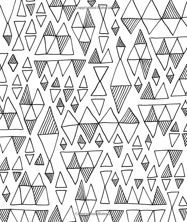 Just Add Color Geometric Patterns 30 Original Illustrations To Customize And