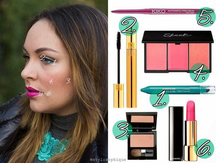 Verde acqua marina e fucsia intenso | #makeup #ysl #chanel #sleekmakeup #diegodallapalma #tutorial #trucco #bellezza #kiko #blush #pinklips #lipstick #mascara #greeneyes