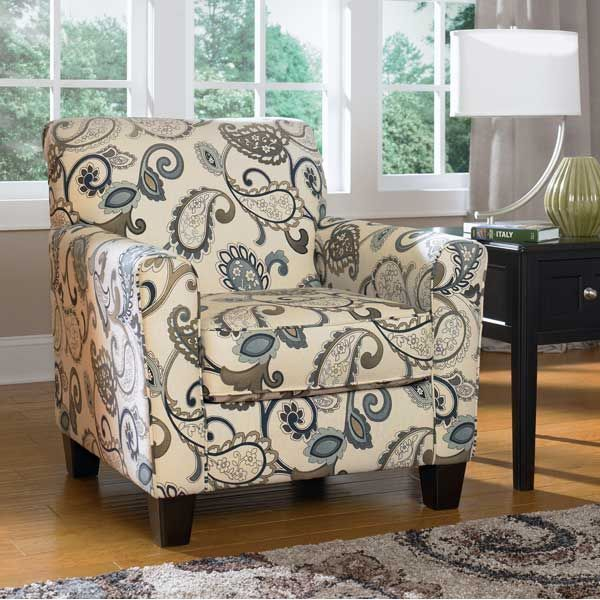 American Furniture Warehouse -- Virtual Store -- Yvette Paisley Accent Chair: Living Rooms Chairs, Decor, Yvett, Houses, Livingroom, Steel Accent, Living Rooms Furniture, Accent Chairs, Ashley Furniture