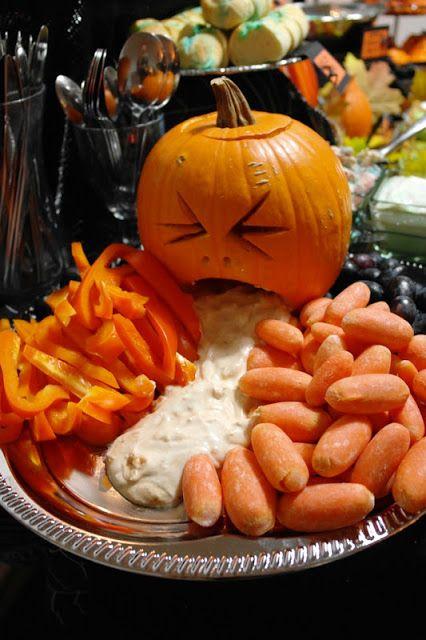 Puking pumpkin.