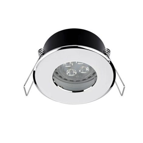 LED shower light chrome