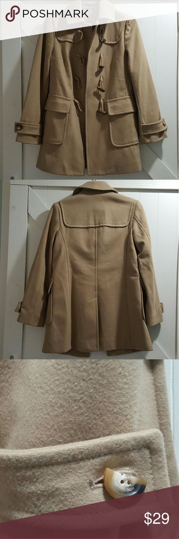 Gap Coat Like new Gap Coat. One chipped button by comes with a replaced  (both pictured). Smoke free home. GAP Jackets & Coats Pea Coats
