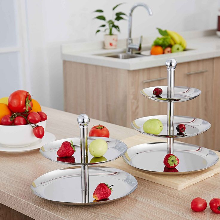 2/3 Layer Fruit Candy Sweet Snack Nut Peanut Cake Holder Vegetable Compote Tray Dish Decoration Plate Fruits Salad Food Compotes