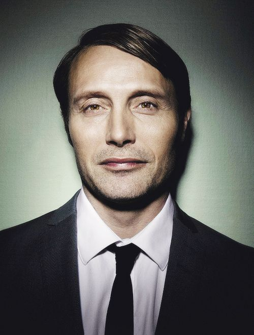 Mads Mikkelsen. I still can't decide if he is the scariest looking guy i have ever seen, or if he is kinda hot LOL