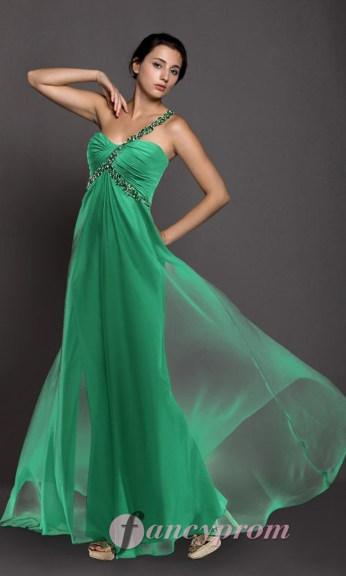 green one shoulder 2013 prom dress from http://www.fancyprom.co.uk