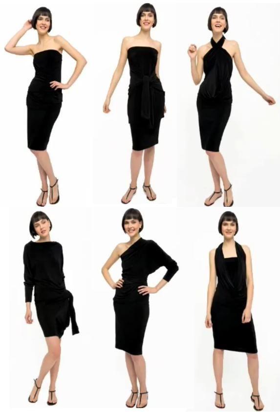 vestido+convertible+all-in-one+dress+de+Norma+Kamali+multivestido+patron+molde+costura+manualidades+facil+rapido+simple.jpg 573 × 843 pixels