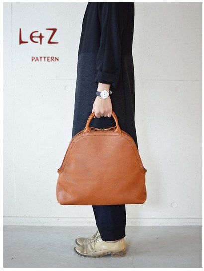bag sewing patterns tote bag PDF insant download BDQ-03 LZpattern design leather work leather craft patterns leather patterns