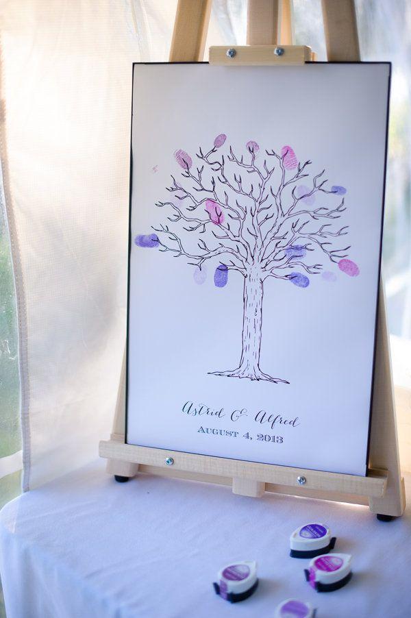 wedding chicks free printable tree guestbook idea #freeprintables #guestbookideas #weddingchicks http://www.weddingchicks.com/2014/01/28/creative-canuck-wedding/