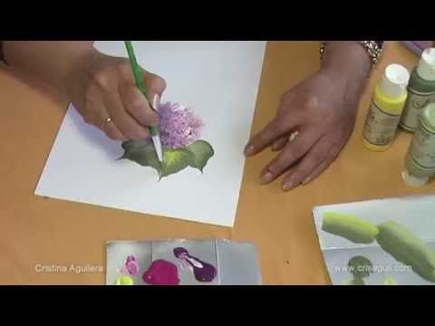 Pintar Hortensias YouTube ༺✿ƬⱤღ  http://www.pinterest.com/teretegui/✿༻