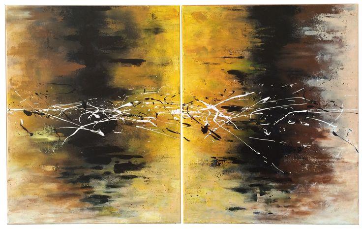 Naam: Vuurwerk  Afmetingen: 80x50 Extra informatie: handschilderd; acrielverf en oliverf op canvas doek; meegeschilderde zijkanten; direct op te hangen;  gesigneerd.