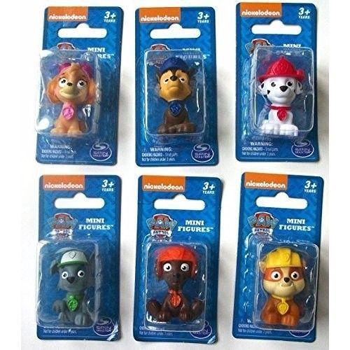Paw Patrol Figure Set 6 Piece Mini Gift Exclusive Toys Kids Play Rocky Zuma Skye #PawPatrolFigureSet