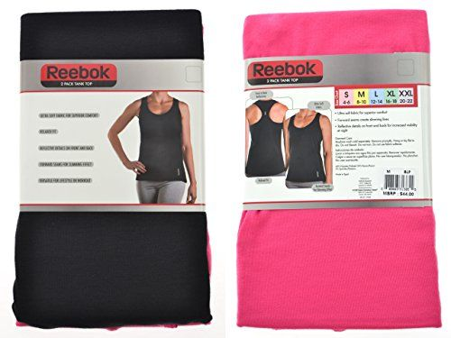 Reebok Ladies 2 Pack Ultra Soft Tank Top L BlackPink -- Want additional info? Click on the image.