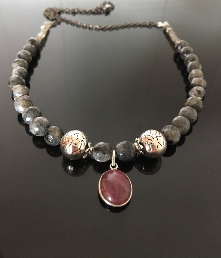 A personal favourite from my Etsy shop https://www.etsy.com/no-en/listing/538333605/sweet-in-labradorite-necklace-ruby