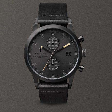 TRIWA Rasmus Storm x Sort of Black Chrono #watch #triwa
