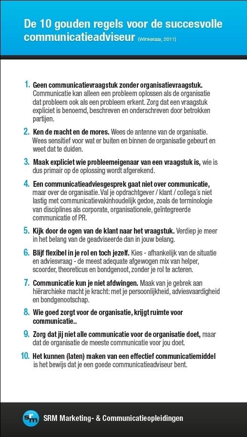 De 10 gouden regels voor de succescolle communicatieadviseur