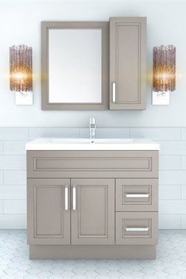 The urban collection offers a transitional yet slightly for Bathroom cabinets urban ladder