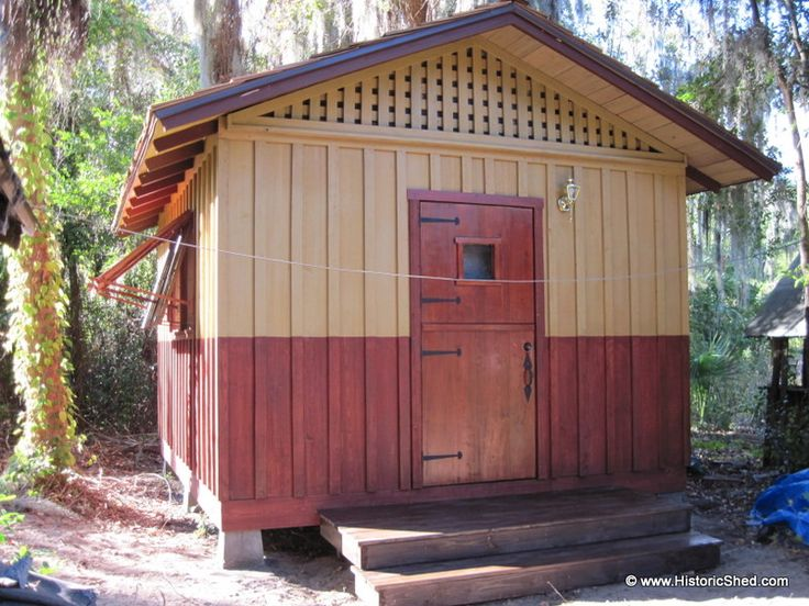 custom office shed w board and batten exterior by historic shed fl