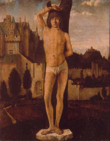 Antonello da Messina, San Sebastiano, Accademia Carrara, Bergamo
