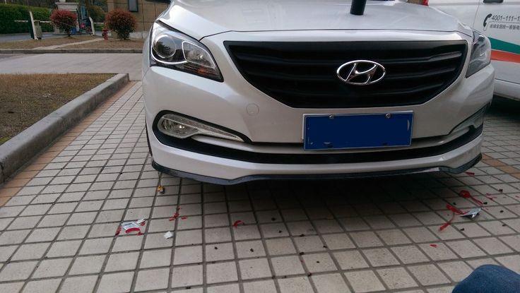 Rubber Splitter Valance Front Bumper Strip Car Scratch for hyundai accent #Affiliate