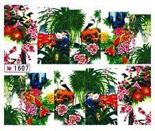 110 Nailart Nagelsticker 10 Aufkleber für Nägel Exotische Blumen