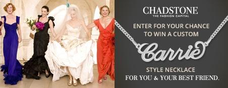 Win a custom designed Carrie-Style Necklace www.facebook.com.au/ChadstoneTheFashionCapital