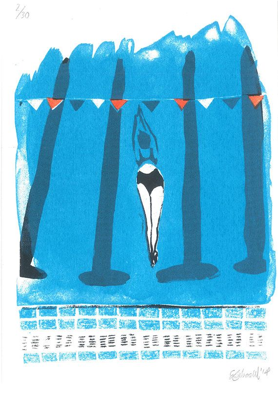 Swimming pool screenprint