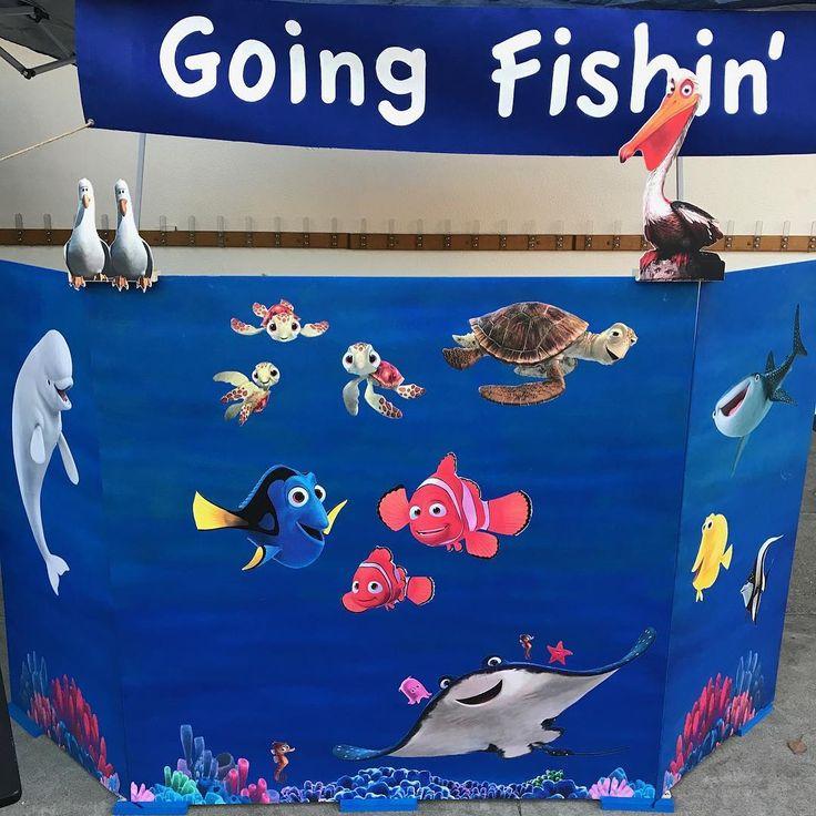 School carnival Fishin' booth