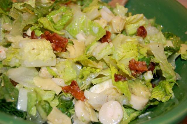 My absolute favorite salad, Hearts of Palm Salad.