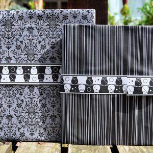 DIY Black and White Notebooks (with Owls!) – Notizbücher (mit Eulen!)
